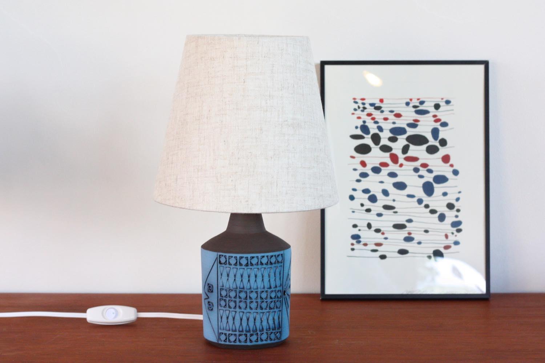 画像1: ビンテージ北欧照明/Aligsas Keramik/アーリングソース/テーブルライト/陶製/No.2 (1)