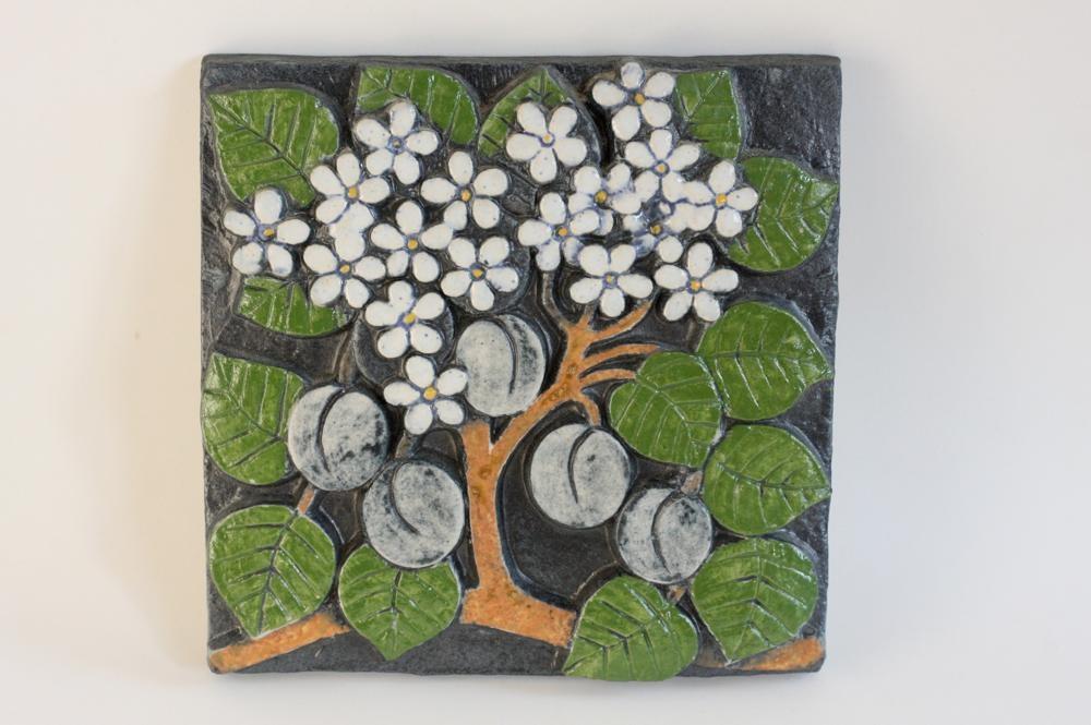 画像1: リサ・ラーソン ヴィンテージ ポモナ プラム 陶板 (1)