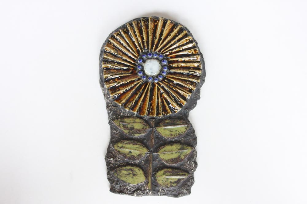 画像1: Lisa Larson リサ・ラーソン アンティーク Vaggplattor 花の壁掛け レアデザイン (1)