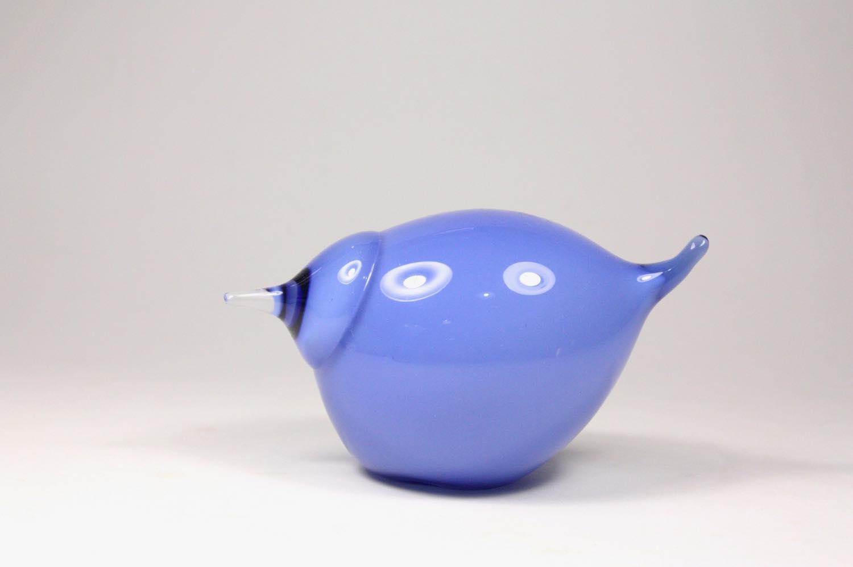 画像1: 北欧アートガラス/ビンテージガラス/Oiva Toikka/オイバ・トイッカ/イッタラ/Birds/バード/Suvisrri/Blue Stint (1)