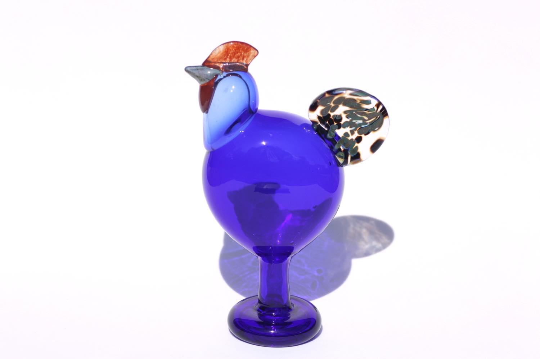 画像1: 北欧アートガラス/ビンテージガラス/Oiva Toikka/オイバ・トイッカ/iittala/イッタラ/Birds/バード/Juhlkukko/Rooster/ユフラクッコ/ルースター (1)