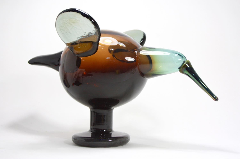 画像1: 北欧アートガラス/ビンテージガラス/Oiva Toikka/オイバ・トイッカ/イッタラ/Birds/バード/Festive catcher/2012/アニバーサリー限定 (1)