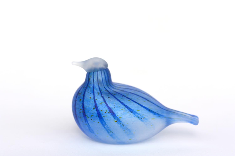 画像1: 北欧アートガラス/ビンテージガラス/Oiva Toikka/オイバトイッカ/iittala/イッタラ/Nuutajarvi/ヌータヤルヴィ/Birds/バード/Unique Day Brid/マットブルー (1)