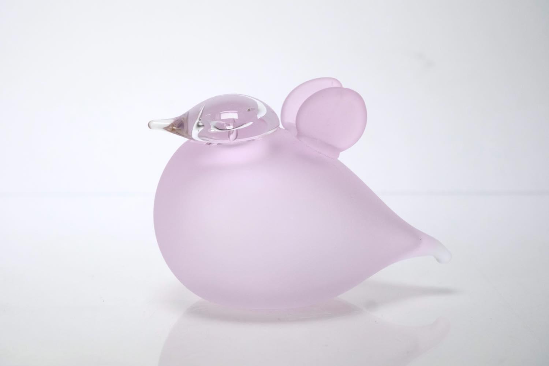 画像1: 北欧アートガラス/ビンテージガラス/Oiva Toikka/オイバ・トイッカ/iittala/イッタラ/Birds/バード/Baby Pink /ベイビーピンク (1)
