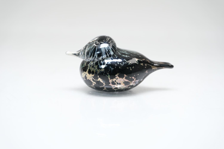 画像1: 北欧アートガラス/iittala/イッタラバード/Oiva Toikka/オイバトイッカ/Small GoldCrest/スモールゴールドクレストよりも小さな小鳥/ラスタ&ブラック斑点/No.3 (1)