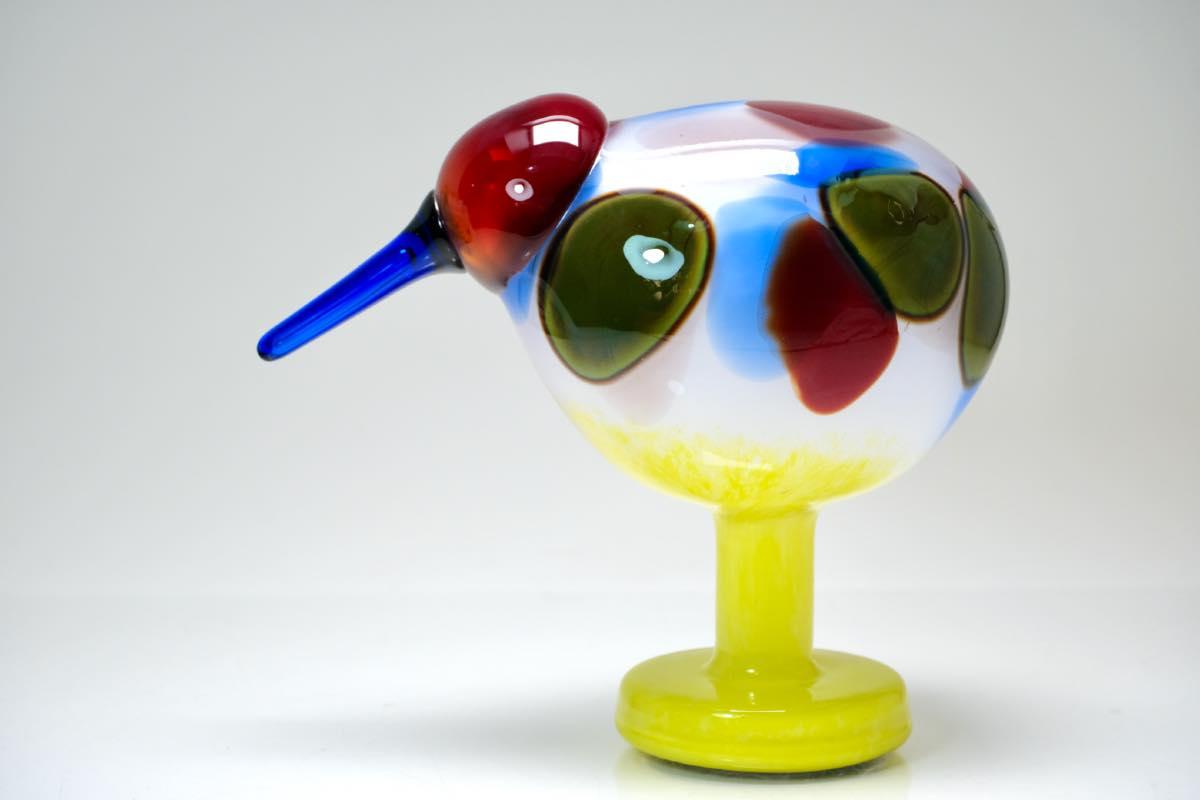 画像1: 北欧アートガラス/ビンテージガラス/Oiva Toikka/オイバトイッカ/NUUTAJARVI/iittala/イッタラ/Birds/バード/Jalokiwi/Jewelled Kiwi/ジュエルドキウイ (1)