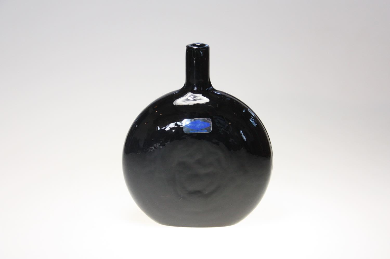 画像1: 北欧ガラス/Oiva Toikka/オイバ・トイッカ/Nuutajarvi/ヌータヤルヴィMANSIKKAPAIKKA/一輪挿し/ブラック/Sサイズ (1)