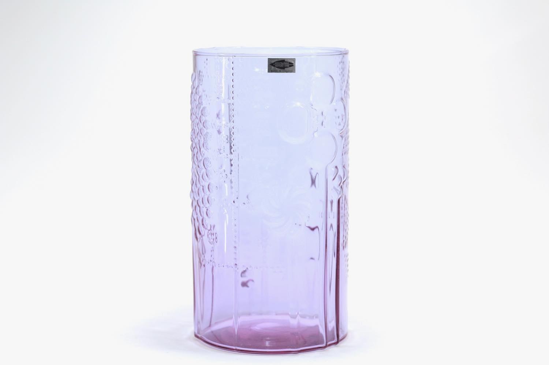 画像1: 北欧ビンテージガラス/オイバトイッカ/ヌータヤルヴィ/フローラ/ベース/花瓶/高さ21cm//フラワーベース/アメジスト (1)