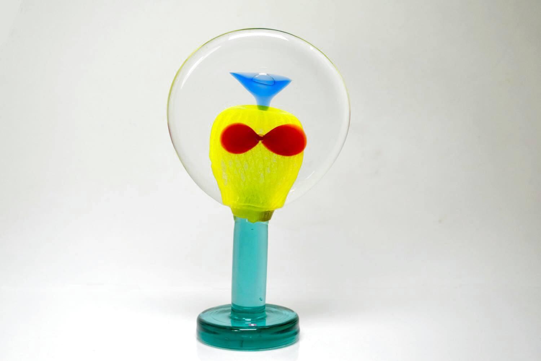 画像1: 北欧アートガラス/ビンテージガラス/アートピース/Oiva Toikka/オイバトイッカ/Lollipop/ロリポップ/2004/200個限定 (1)