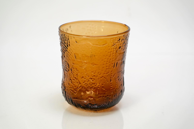画像1: 北欧ビンテージガラス/Oiva Toikka/オイバ・トイッカ/ファウナ/NUUTAJARVI/ヌータヤルヴィ/アンバー/グラス (1)