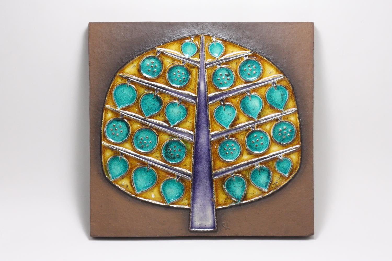 画像1: デンマーク/Knabstrup Keramik/ナブストラップ社製/陶板/大樹 (1)