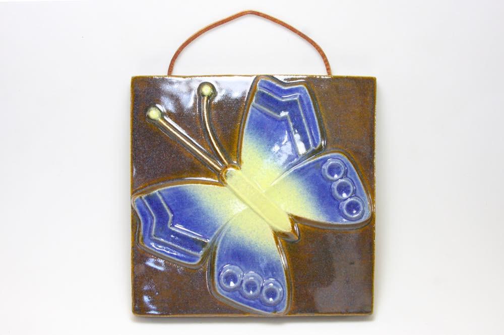 画像1: Fischer Stengods/陶板の壁掛け/蝶 (1)