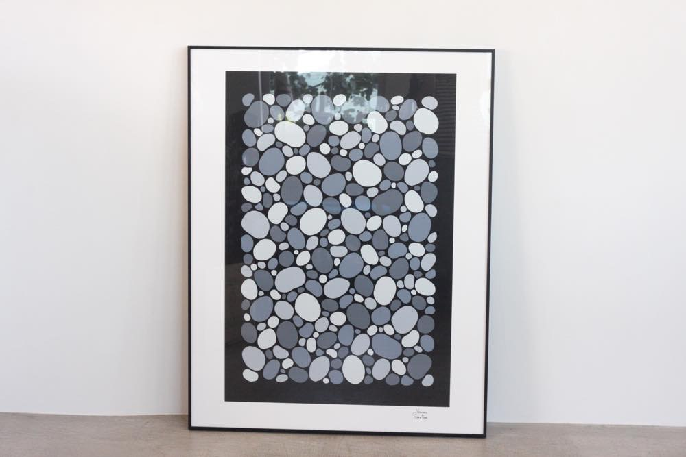 画像1: Verner Panton collection/ヴェルナー パントン コレクションアイテム/1986 Stones 2 /シルクスクリーン/モノトーン/フレーム付き (1)