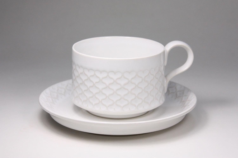 画像1: Jens.H.Quistgaard/クィストゴー/Cordial /コーディアル/Palet/パレット/ホワイト/コーヒーカップ&ソーサー/美品 (1)