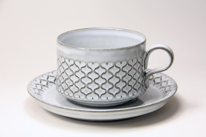 画像1: 北欧ビンテージ/クィストゴー/Cordial /コーディアル/Nissen/グレー/コーヒーカップ&ソーサー/No.1 (1)