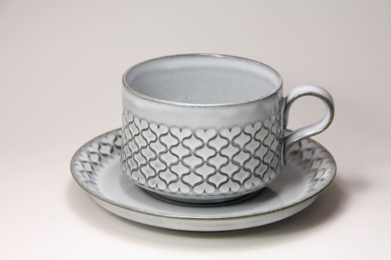 画像1: 北欧ビンテージ/クィストゴー/Cordial /コーディアル/Nissen/グレー/コーヒーカップ&ソーサー/No.2 (1)