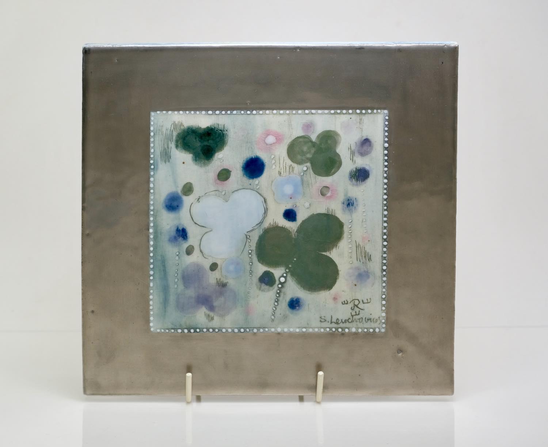 画像1: Rorstrand/ロールストランド/Sylvia Leuchovius /シルヴィア・レイショブス/陶板/ユニークピース/花柄 (1)