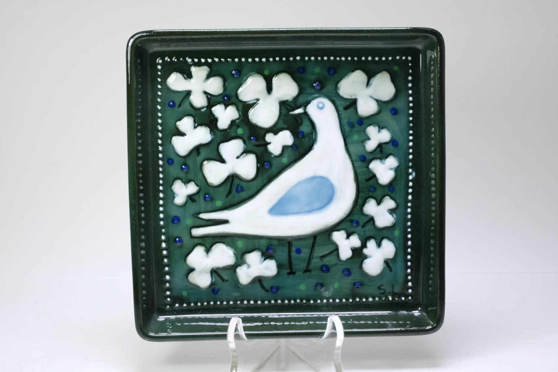 画像1: Rorstrand/ロールストランド/Sylvia Leuchovius/シルヴィア・レウショヴィウス//陶板/絵皿/鳥 (1)