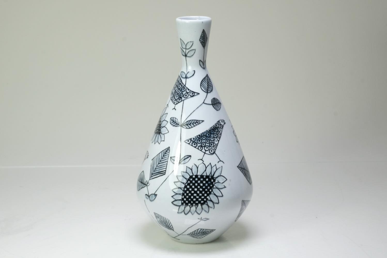 画像1: Rorstrand/ロールストランド/Sylvia Leuchovius/ベース/花瓶/小鳥&花  (1)