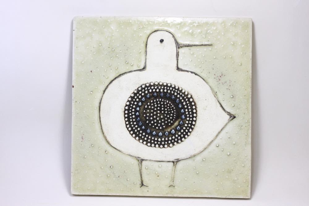 画像1: Rorstrand/ロールストランド/Sylvia Leuchovius /シルヴィア・レウショヴィウス /小鳥陶板 (1)
