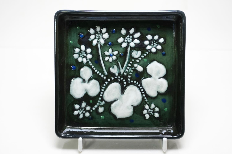 画像1: Rorstrand/ロールストランド/Sylvia Leuchovius/シルヴィア・レイショブス/絵皿壁掛け/花 (1)