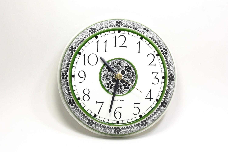 画像1: Rorstrand/ロールストランド&Westerstrand/壁掛け時計/グリーン&ブラック (1)