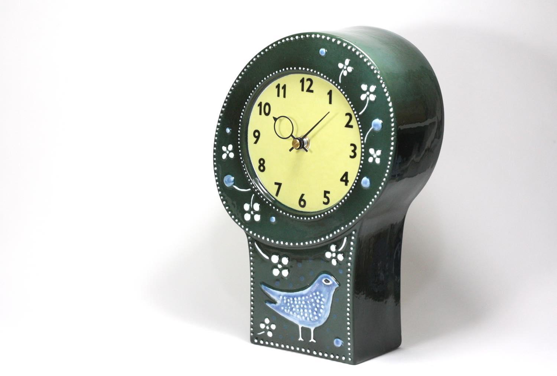 画像1: Rorstrand/ロールストランド/Sylvia Leuchovius/ シルヴィア・レウショヴィウス/ 置き時計/小鳥 (1)