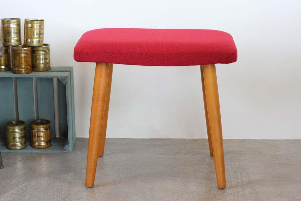 画像1: 北欧ビンテージ家具,スウェーデン/スツール/オットマン レッド (1)