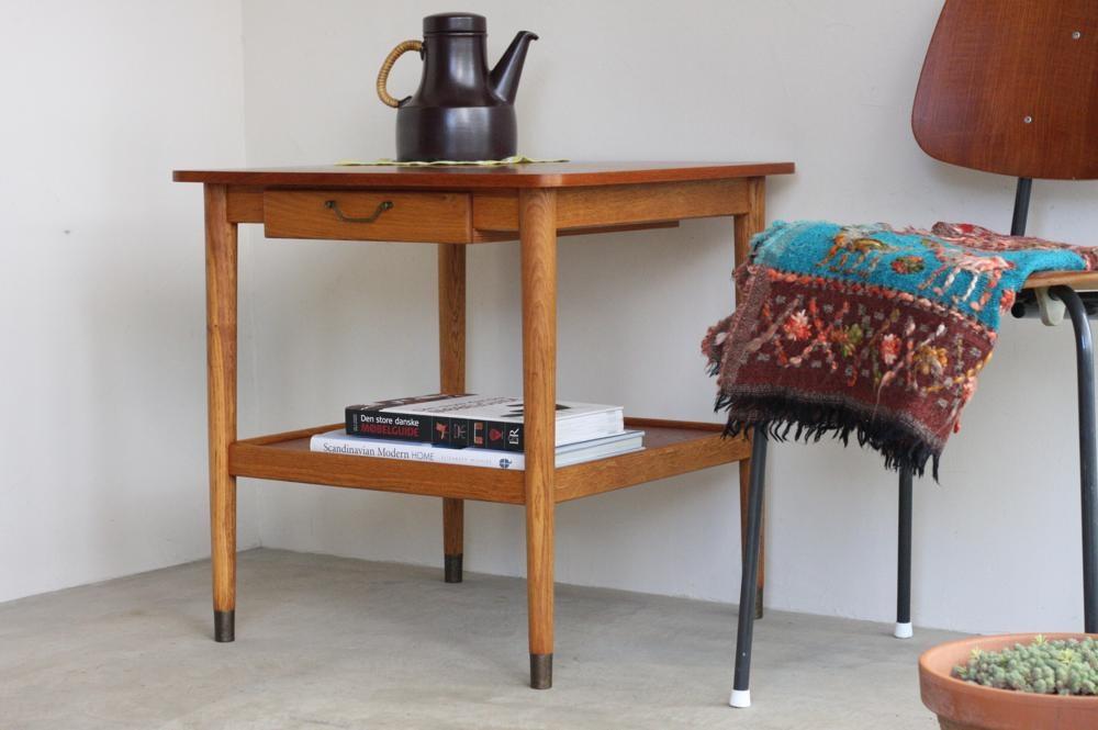 画像1: 北欧ビンテージ家具/デンマーク製/サイドテーブル/引き出し付き (1)
