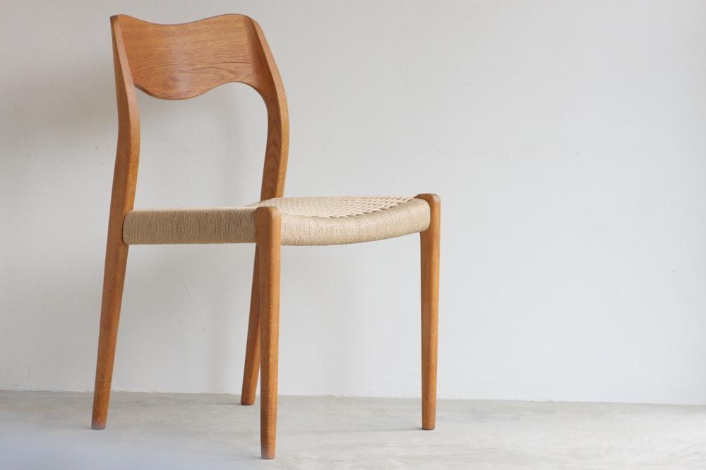 画像1: 北欧ビンテージ家具/デンマーク製/ ダイニングチェア /Hovmand Olsen Model71/オーク (1)