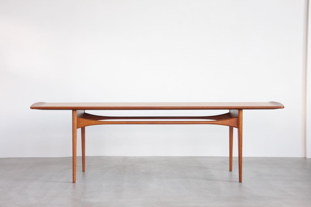 画像1: 北欧ビンテージ家具/デンマーク製/Tove & Edvard Kindt - Larsen/コーヒーテーブルFD503/チーク (1)