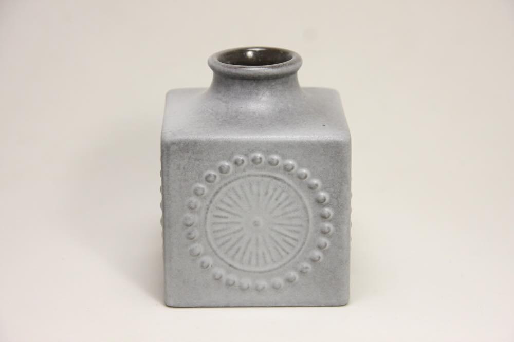 画像1: Upsala Ekeby /ウプサラ エクビィ/Goran Andersson/一輪挿し花瓶/キューブ型/Sサイズ/No.2 (1)