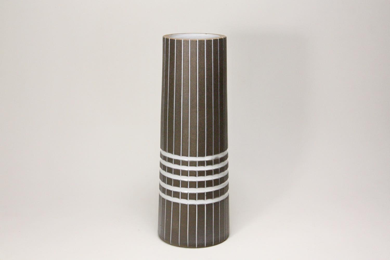 画像1: Upsala Ekeby/ウプサラ エクビィ/Ingrid Atterberg/一輪挿しの花瓶 /ストライプ&ボーダー/高さ22cm (1)