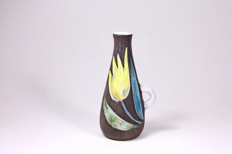 画像1: Upsala Ekeby/ウプサラ エキュビ/マリ・シムルソン/チューリップ花瓶/一輪挿し/No.1 (1)