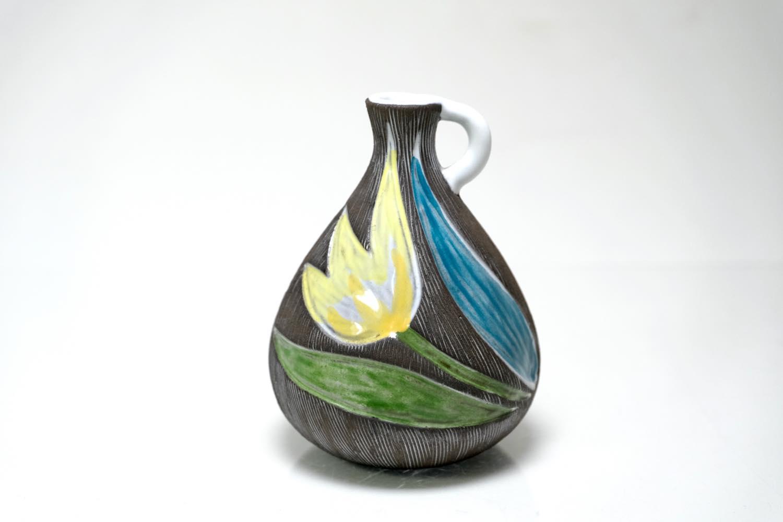 画像1: Upsala Ekeby/ウプサラ エキュビ/マリ・シムルソン/チューリップ花瓶/一輪挿し 丸形 (1)