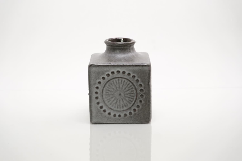 画像1: 北欧アンティーク/Upsala Ekeby /ウプサラ エクビィ/Goran Andersson/一輪挿し花瓶/キューブ型/Sサイズ (1)