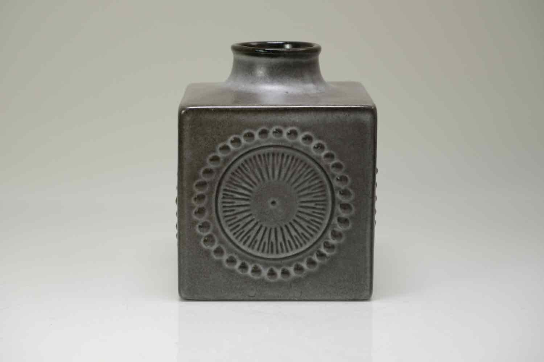 画像1: Upsala Ekeby /ウプサラ エクビィ/Goran Andersson/ 一輪挿し花瓶/キューブ型Lサイズ (1)
