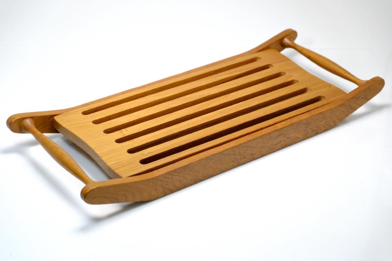 画像1: 北欧雑貨/スウェーデン/パン用カッティングボード/チーク/No.1 (1)